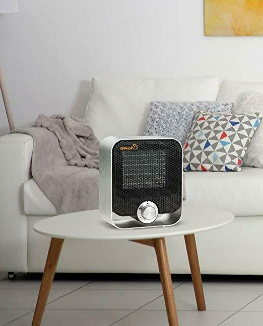 Crane Personal Space Heater With Adjustable White or Black