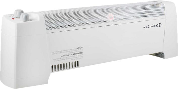Comfort Zone CZ600 1500W Baseboard Convection Space Heater &