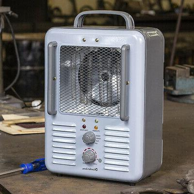 Comfort Zone Compact Portable Electric Utility Heater Personal Fan