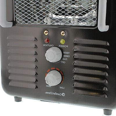 Comfort CZ798BK Compact Portable Utility Space Heater Personal