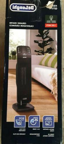 Delonghi 1500W Ceramic Tower Electric Space Heater with Ther