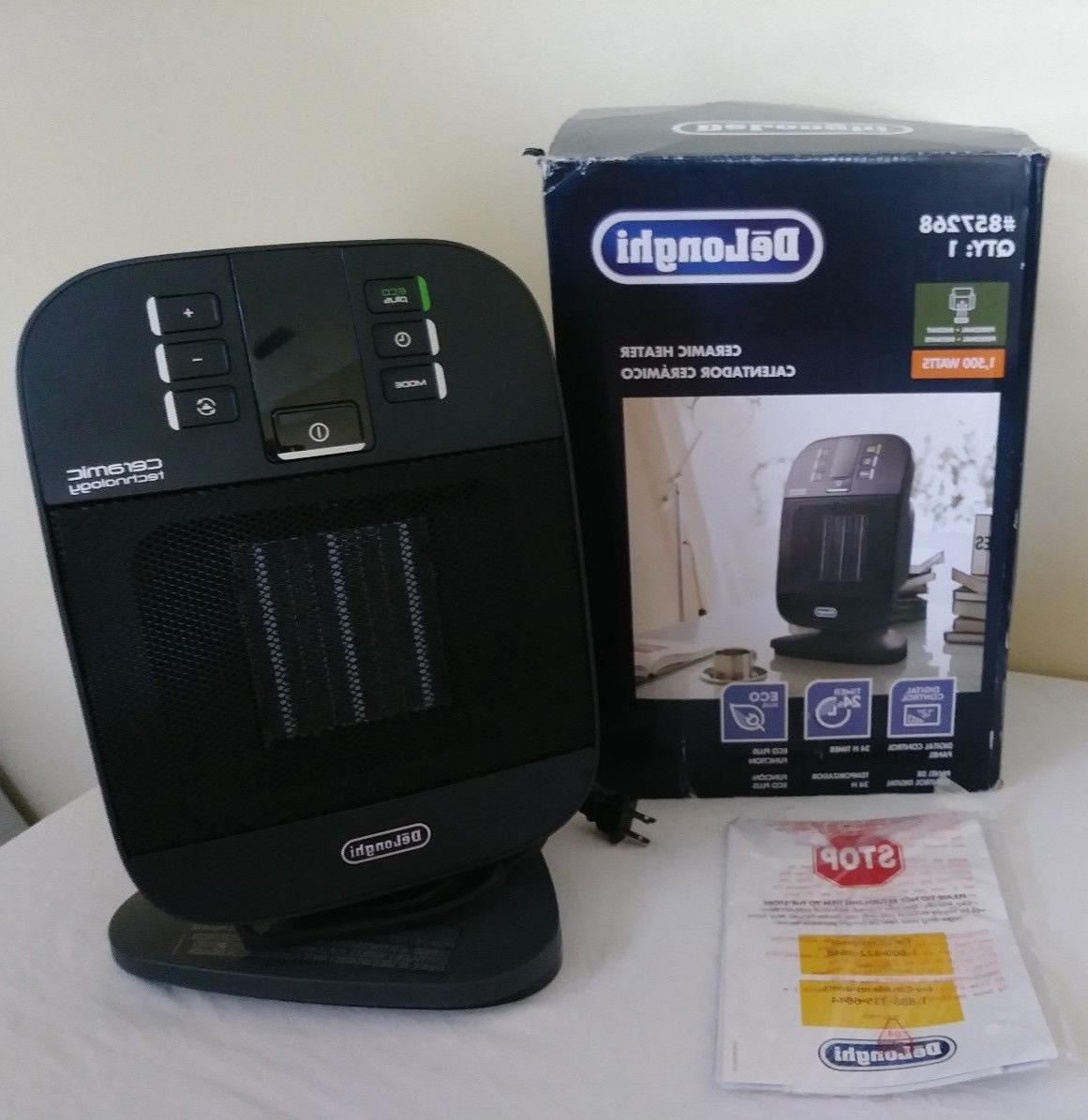 delonghi ceramic compact personal electric space heater