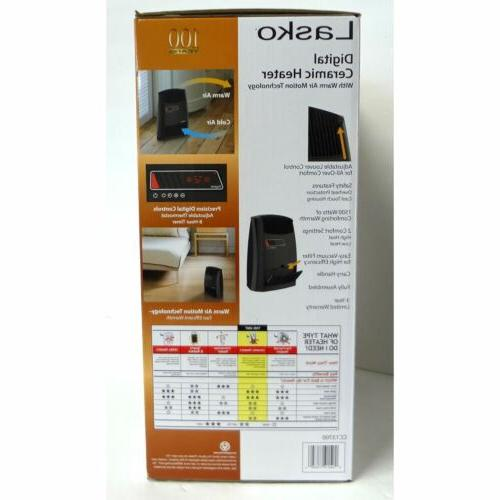 Lasko Digital Ceramic Heater Electric Heating Adjustable Portable Ho