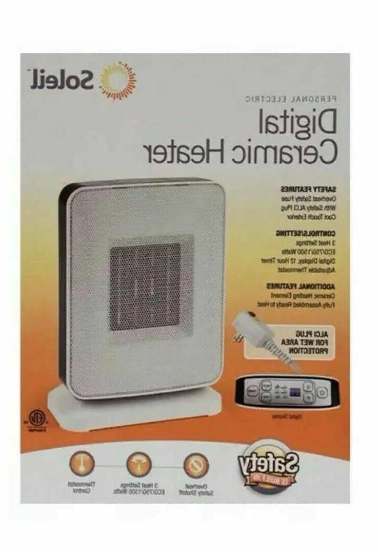 Soleil Digital Electric Ceramic Space Heater settings