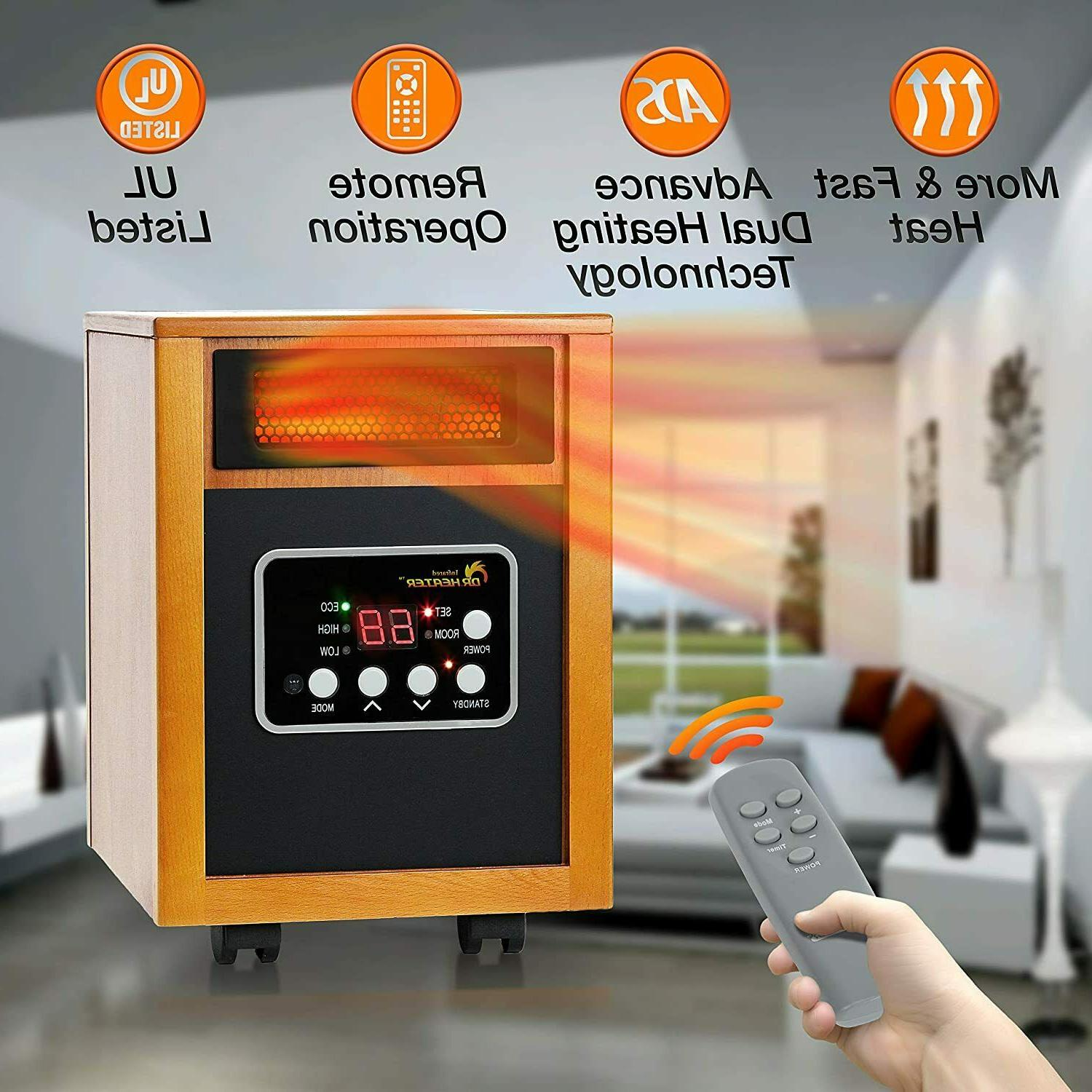 dr infrared heater dr968h portable space heater