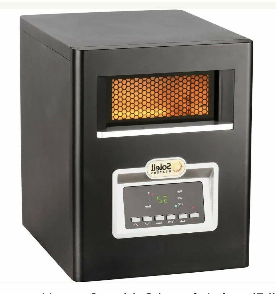 Electric Infrared Cabinet Space Heater w/ Remote
