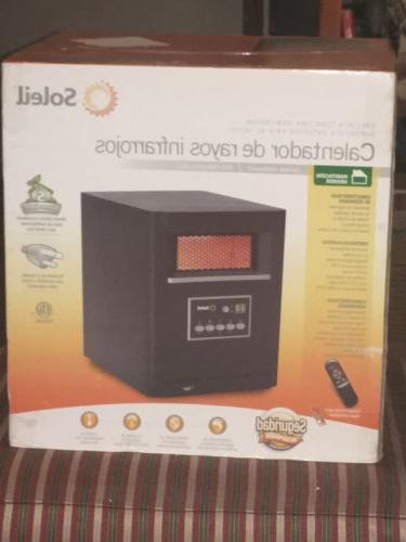 Soleil Electric Infrared Cabinet Space Heater, 1500W, PH-91G