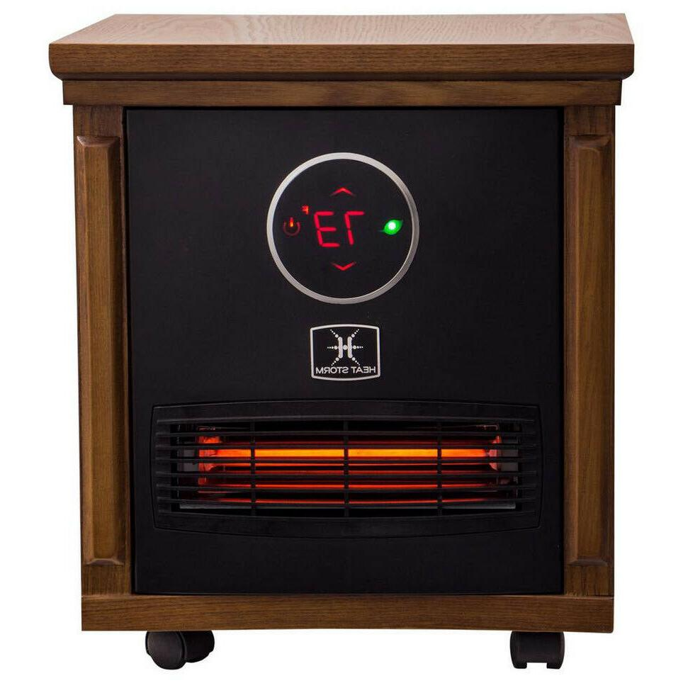 ELECTRIC SPACE HEATER INFRARED 1500W Portable Brown
