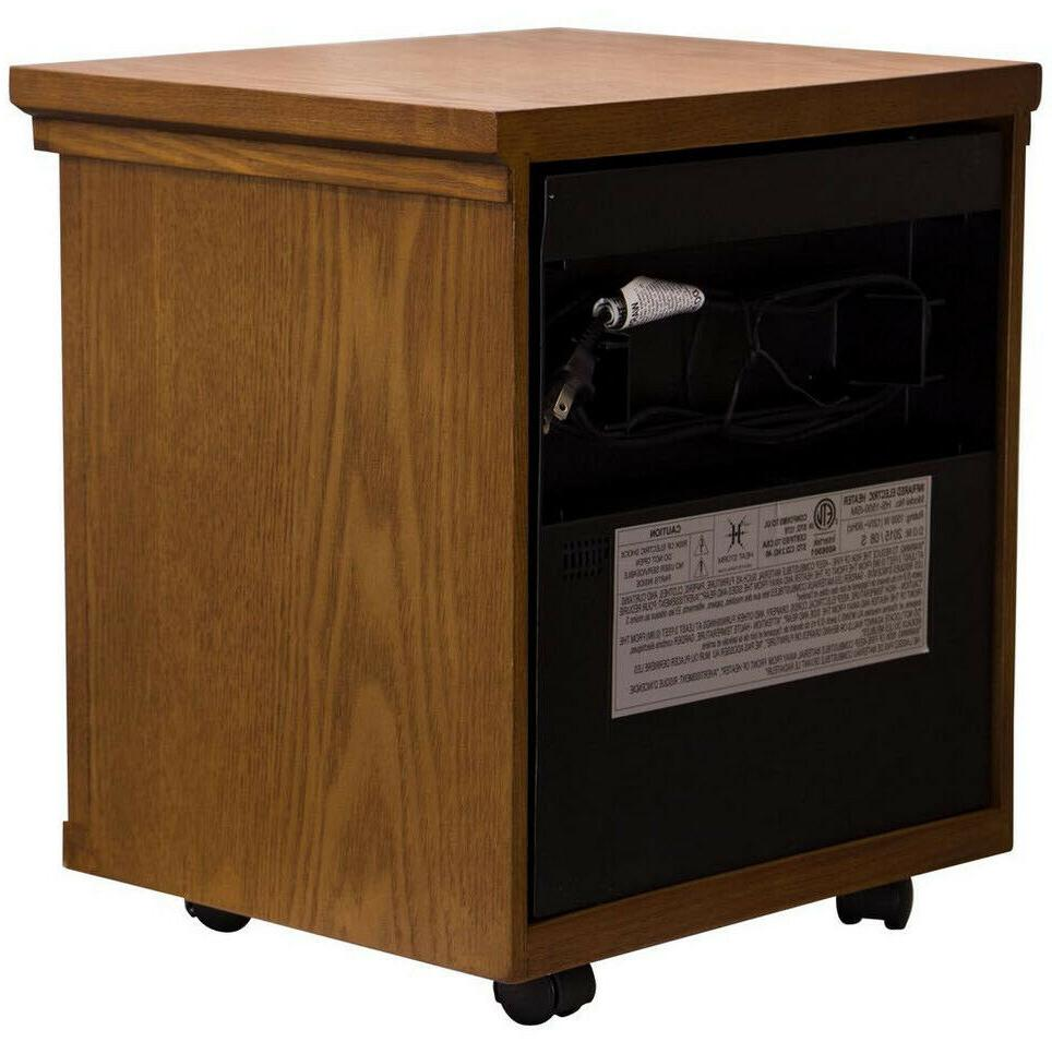 ELECTRIC HEATER 1500W Portable Brown Wood