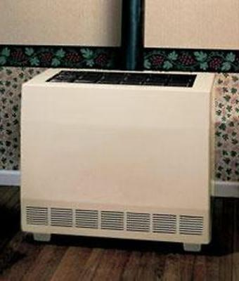 closed front room heater w blower natural