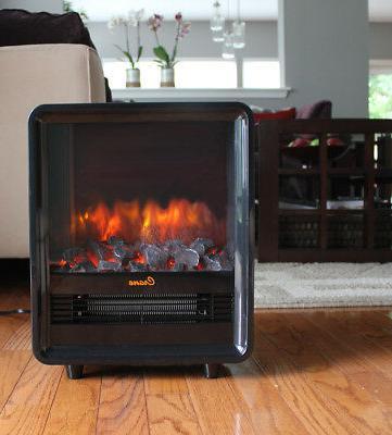 Crane Fireplace Heater, Adjustable Ceramic Element - Black
