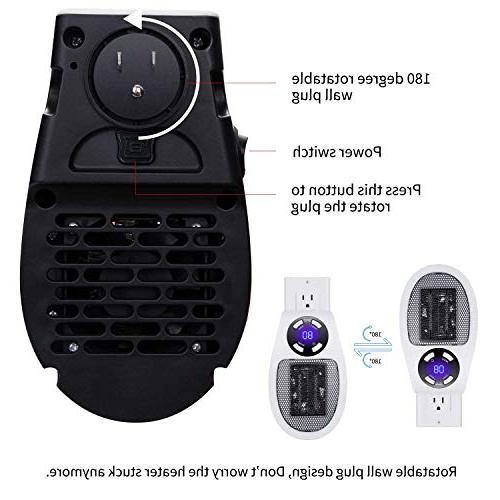 Brightown Heater, Plug-in Mini Heater and Office Dorm 350-Watt Listed Safe Use