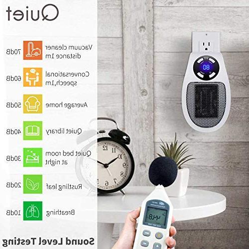 Brightown Heater, Mini Heater with and LED Office 350-Watt