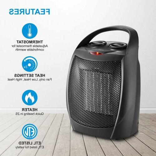 HOME_CHOICE Small Heater Quiet Portable Heater