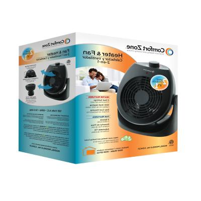Comfort Zone CZHC21 House Fan and Portable Heater Combo,