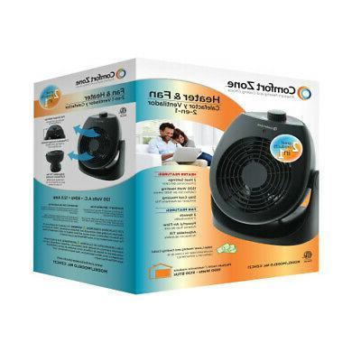 Comfort Fan Heater Black