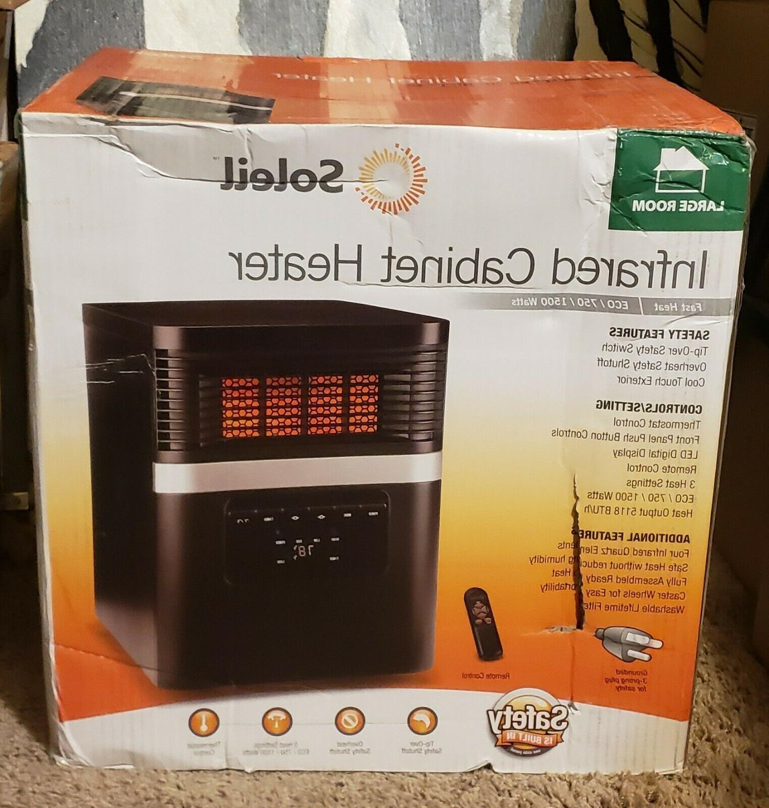 Soleil Infrared Cabinet Heater ECO/750/1500 Watts