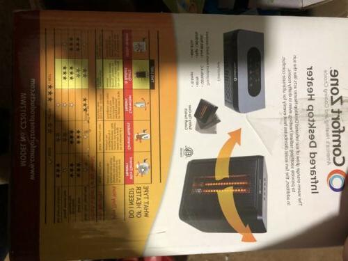 Comfort Infrared Electric Portable Desktop Black -NEW™