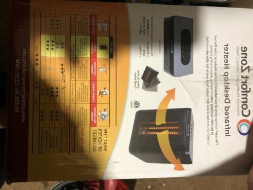 Comfort Zone Electric Portable Desktop Black