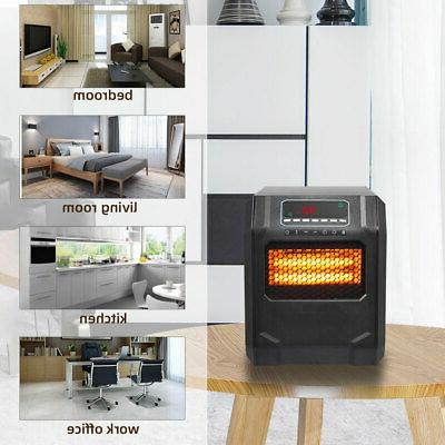 Ir Quartz Heater Remote Control Heating 4-Element