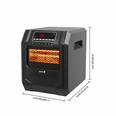 Ir Quartz Heater 1500W Remote Home Heating