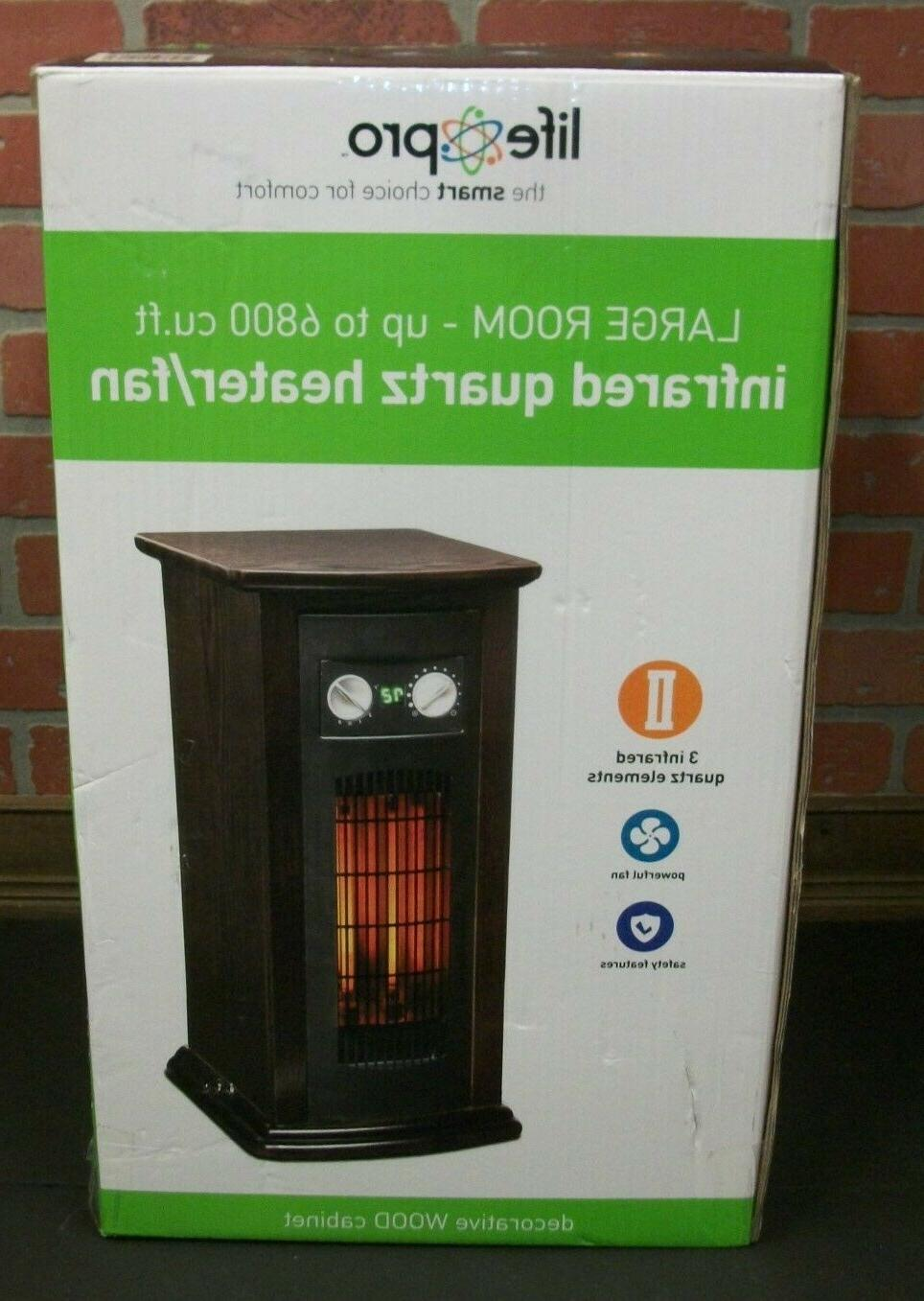 large room infrared quartz tower space heater