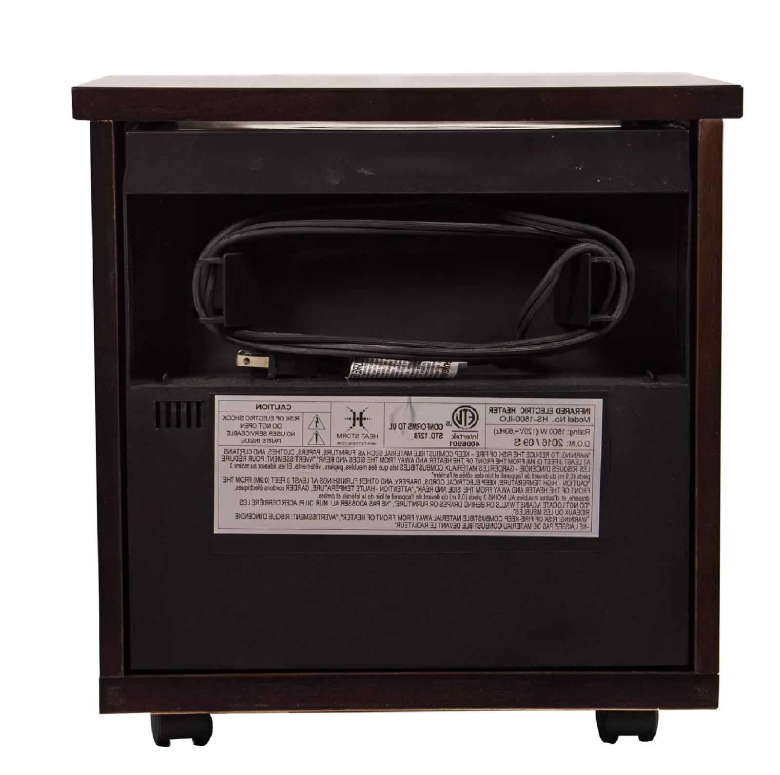 Heat Storm Infrared Wood Heater wall Heat FREE SHIPPING