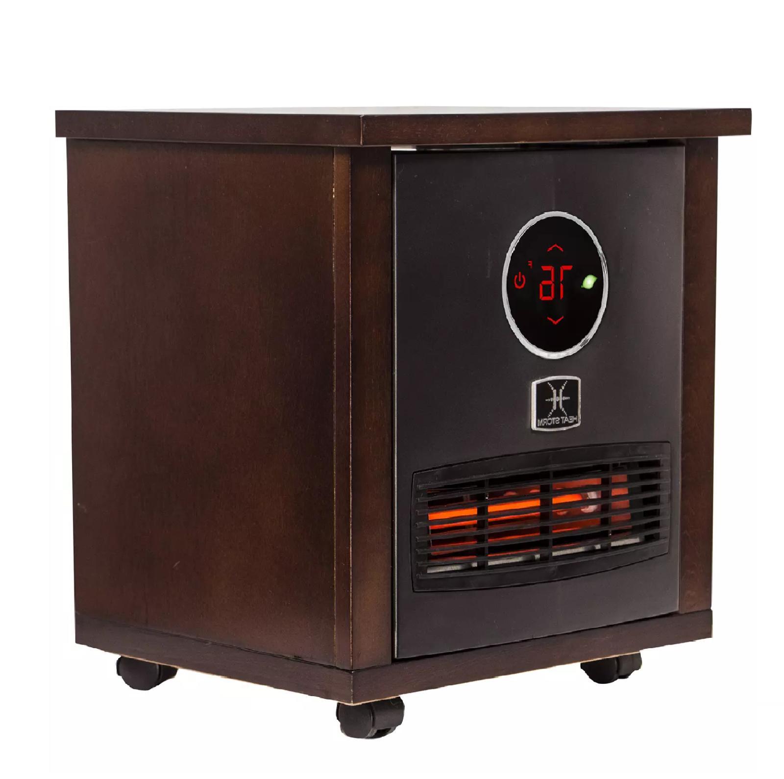 Heat Logan Classic Infrared Wood Heater wall