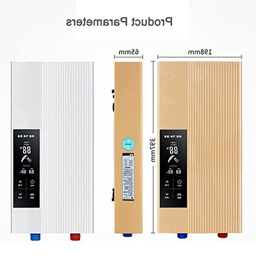 Water 220V 7.5KW Tankless Instant Electric Hot Heat Type Bathroom Bath Wall Boiler Shower
