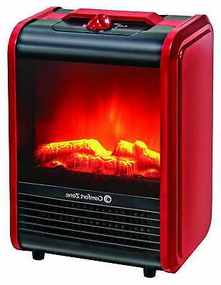 mini electric fireplace space heater heat control