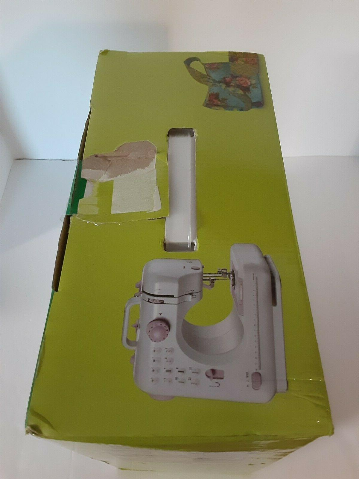Mini Free-Arm Sewing Machine with 12 Built-In