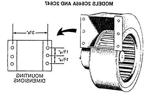 Dayton 2C647 Permanent Split Capacitor Blower