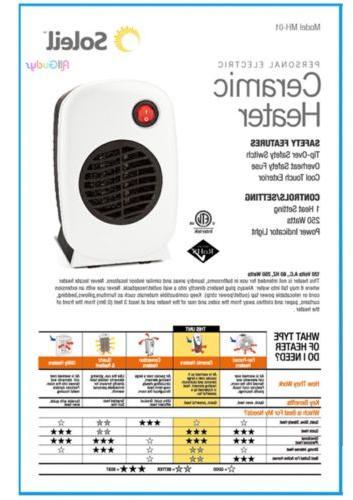 NEW Ceramic Heater Portable Heater WHITE