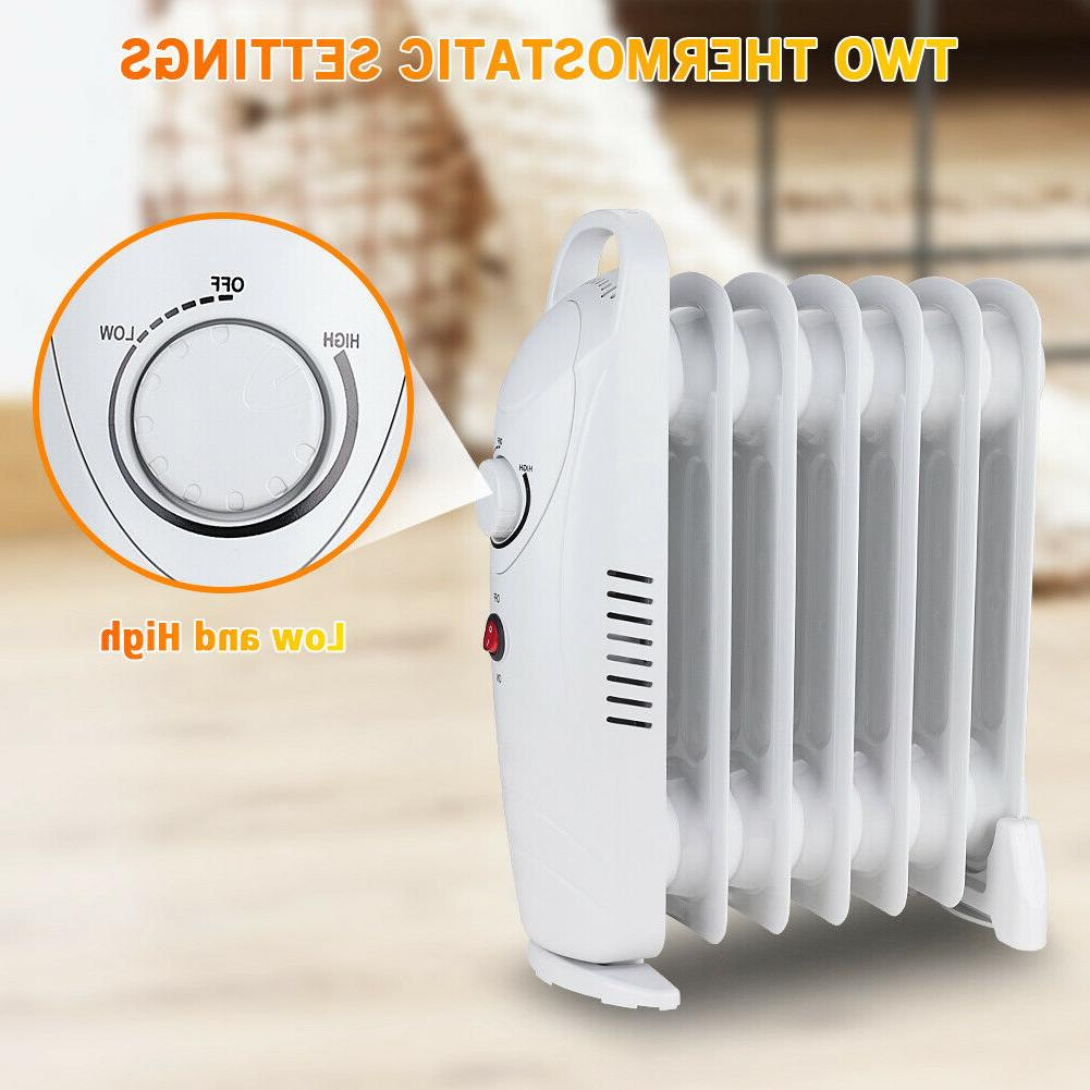 Oil Radiator Portable Space Overheat Safety 700W