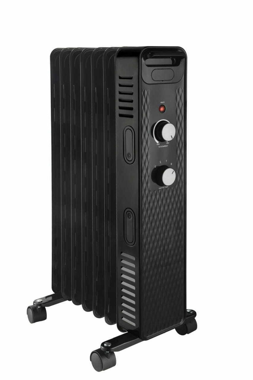 Electric Space Oil Radiator Portable Floor Black