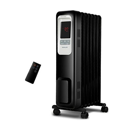 4acdc8a8242 PELONIS PLN978-B Oil Filled Radiator Space Heater