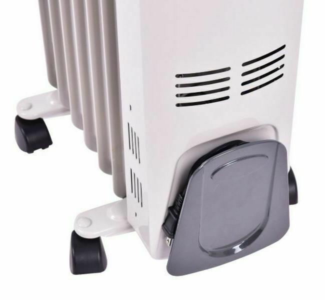 Oil Space Heater Room Radiator 1500W High Efficiency