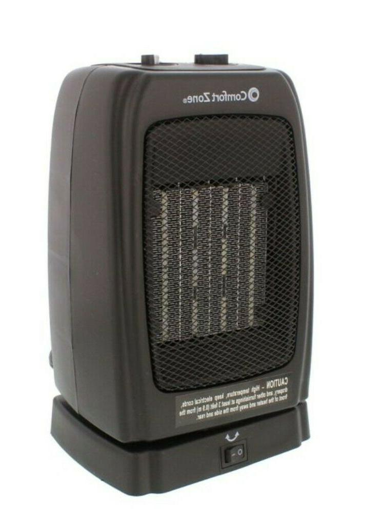 oscillating ceramic space heater with fan mode
