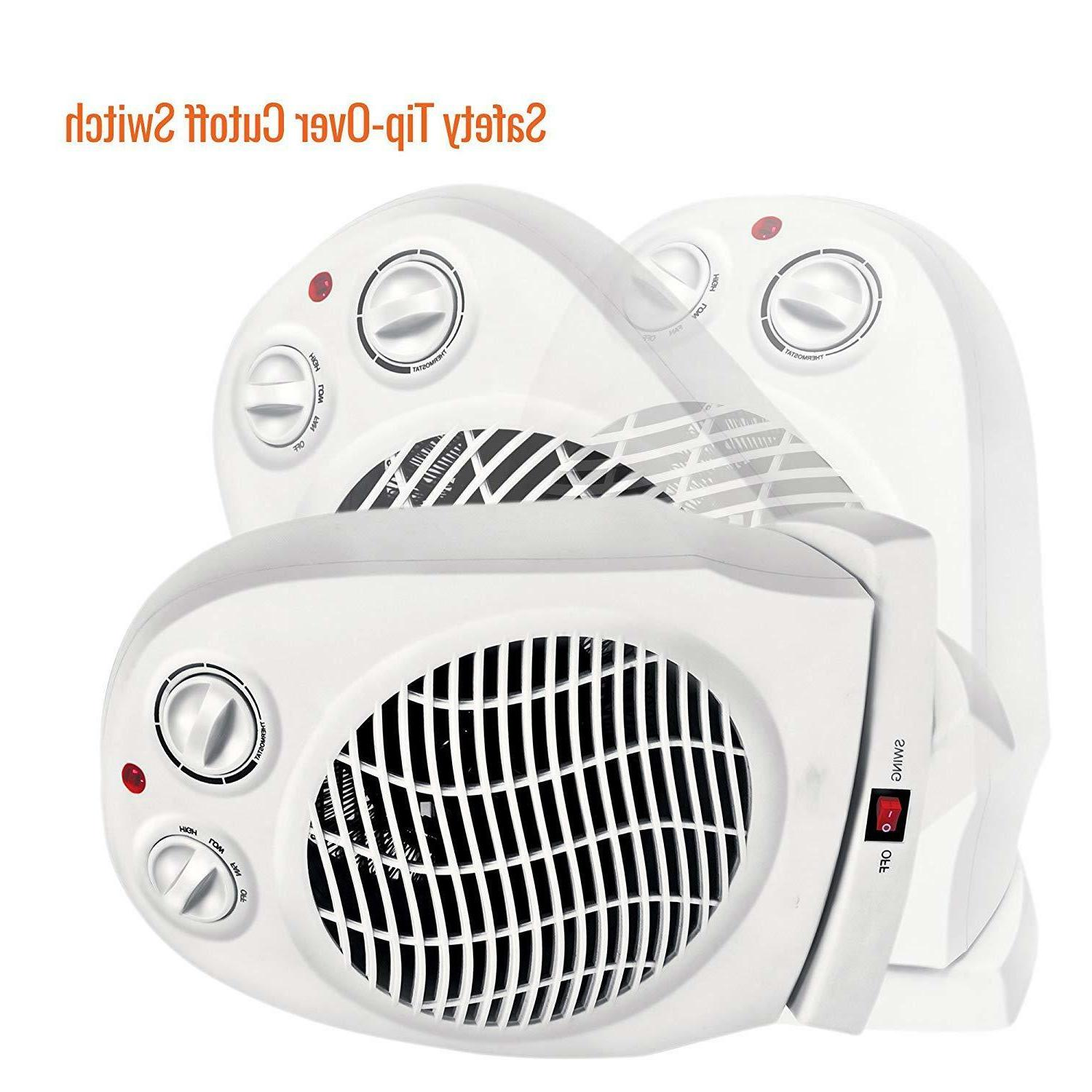 Oscillating Compact Space Fan Portable 1500W, Adjustable