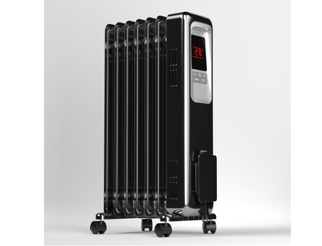 pelonis radiant portable space heater 1500w digital