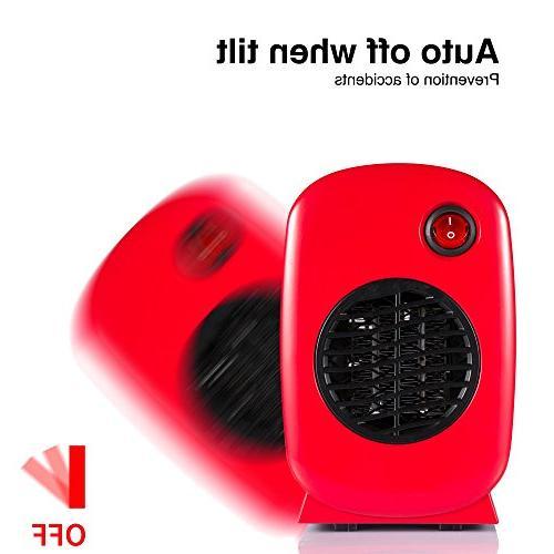 Brightown Personal Heater 250-Watt Safe Red