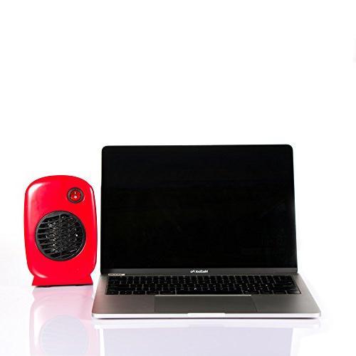 Brightown Heater Table Home Kitchen 250-Watt Safe Use, Red