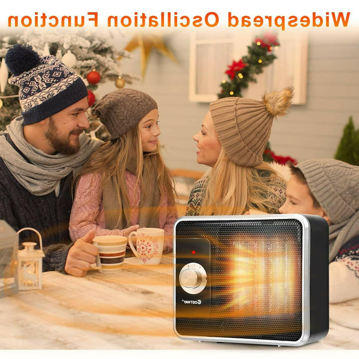 Personal Portable Ceramic Heater Quiet Energy Efficient