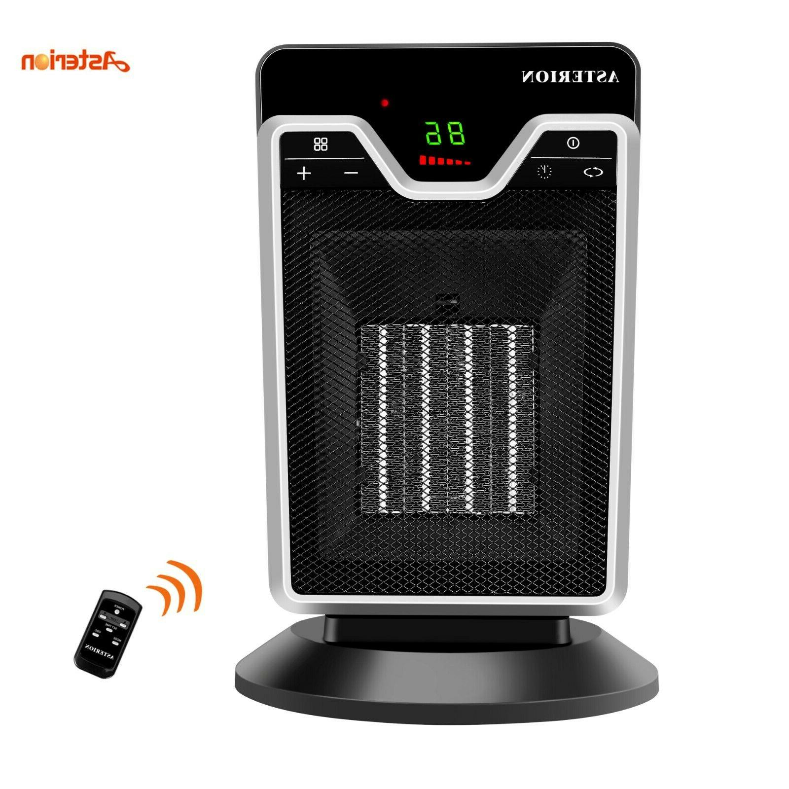 Portable 1500W Ceramic Electric Space Heater PTC Thermostat