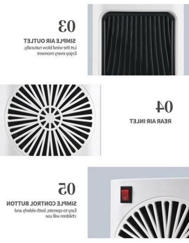 Portable 800W Space Heater Fan Compact Home Quiet