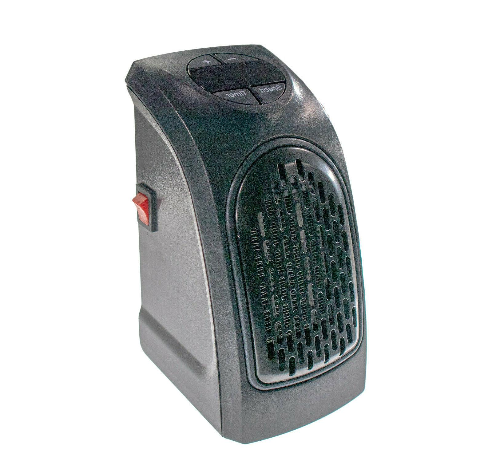 Portable Ceramic Mini Wall Outlet Space Heater 400W Digital