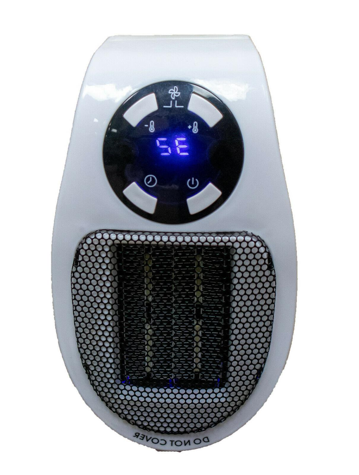 Portable Ceramic Mini Heater Wall Outlet In Space Heater 400W Timer Digital