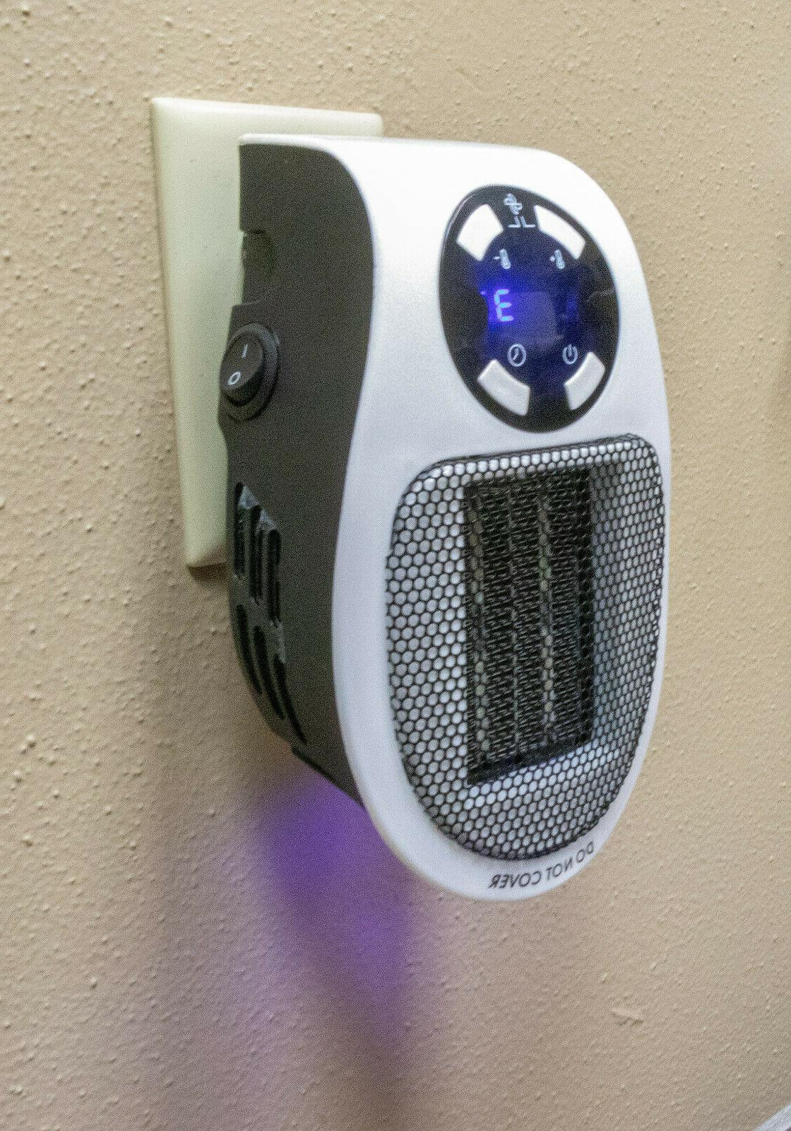 Portable Mini Heater Wall Space Timer Digital