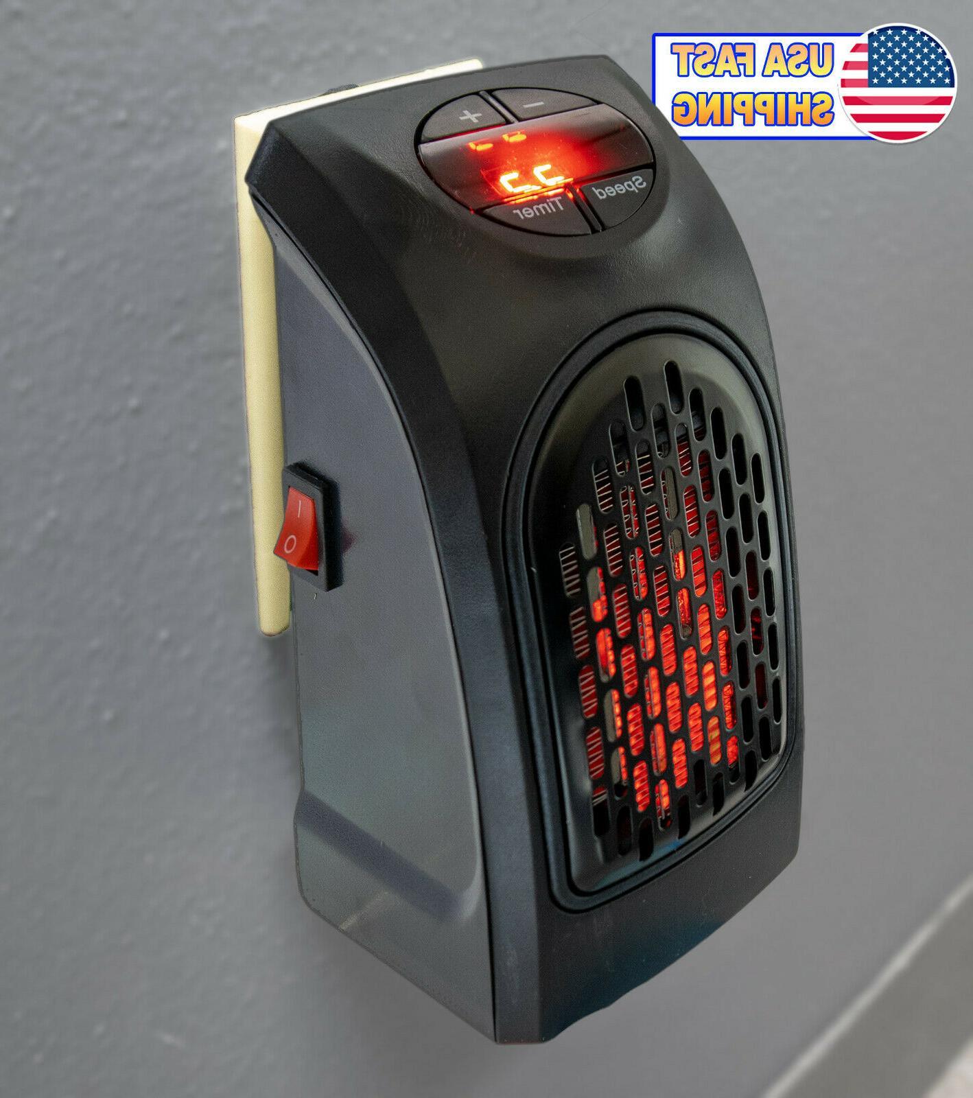 portable ceramic mini heater wall outlet plug