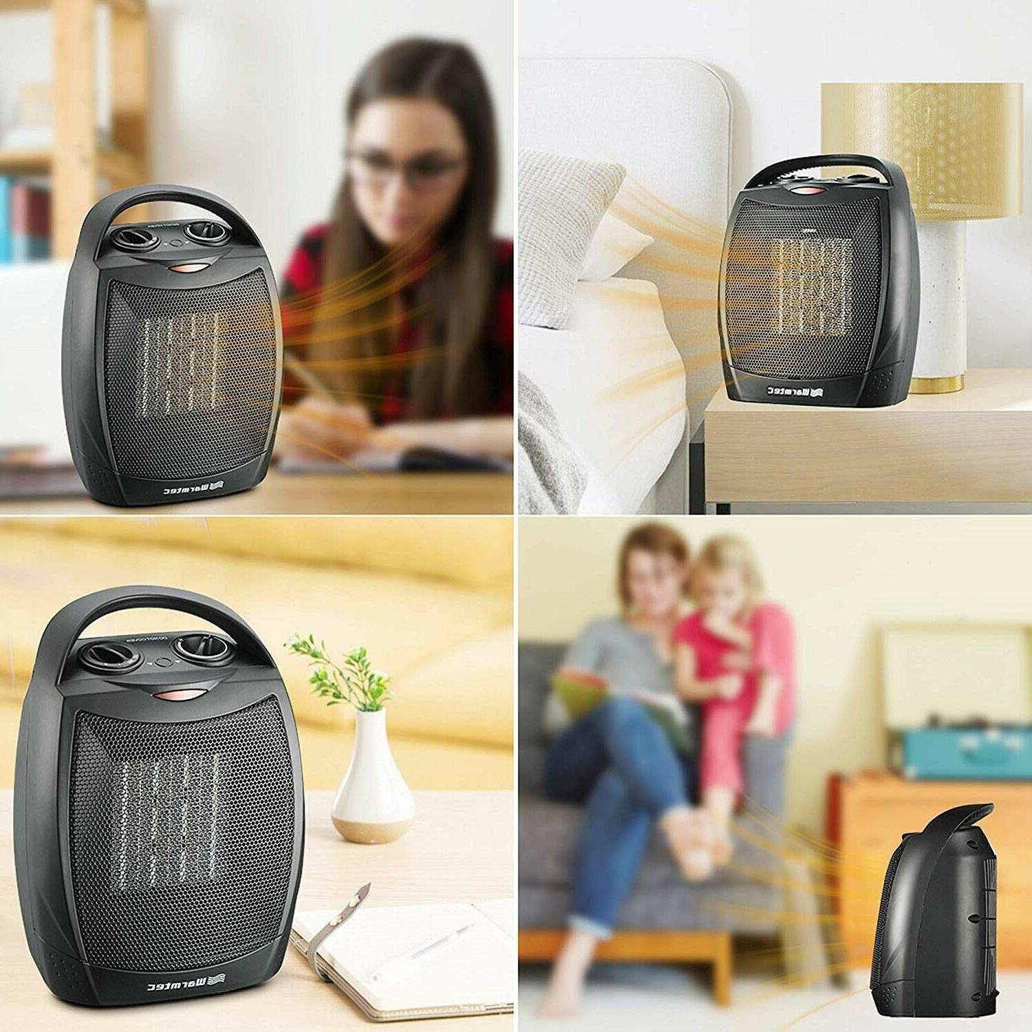 Portable Space Mini 1500W Thermostat with